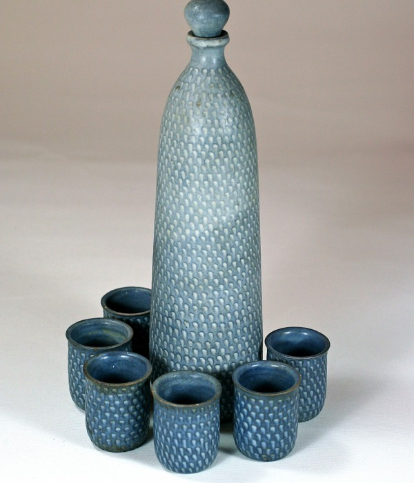 Ulli Wittich-Großkuth, bottle with cups, 1960s